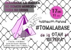 17-D Bétera: Ocupación-marcha #tomalabase de la OTAN.